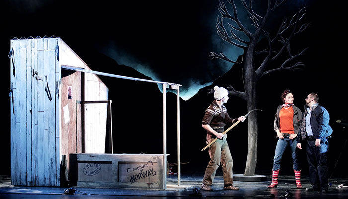 Photograph from The Not-So-Fatal Death of Grandpa Fredo - lighting design by Simon Wilkinson