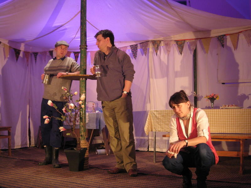 Photograph from Tales of the Country - lighting design by Alex Wardle