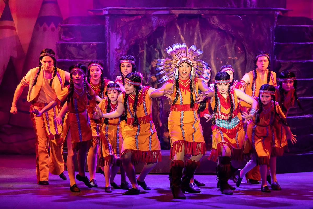 Photograph from Peter Pan - lighting design by Johnathan Rainsforth