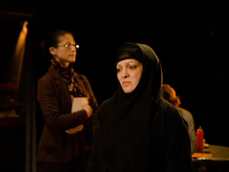 Photograph from Tales from the Harrow Road - lighting design by Will Evans