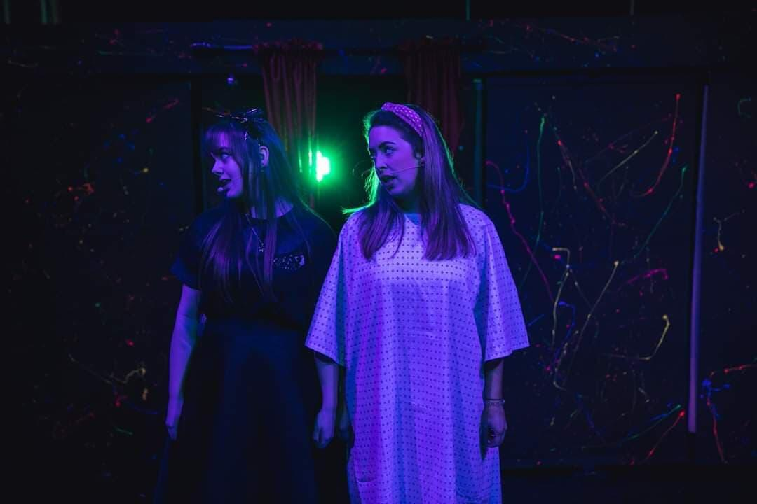 Photograph from Be More Chill - lighting design by Ellen Butterworth-Evans