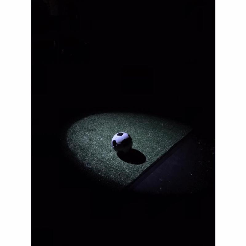 Photograph from The Wolves - lighting design by Paul Lennox