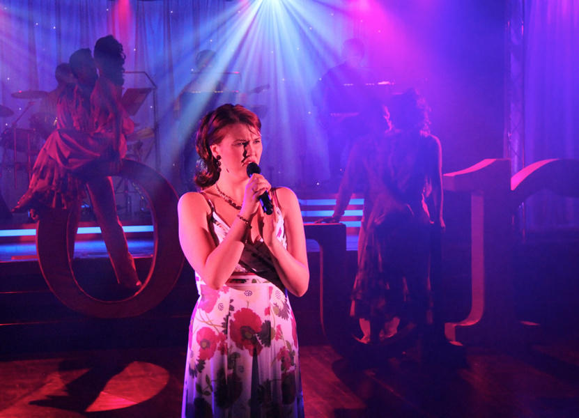 Photograph from Amour - lighting design by David Totaro