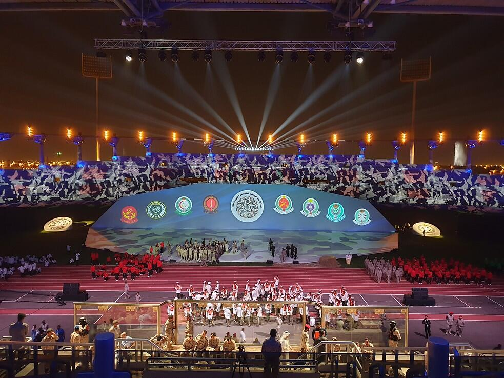 Photograph from Air Defense collage graduation ceremony - lighting design by kholyman