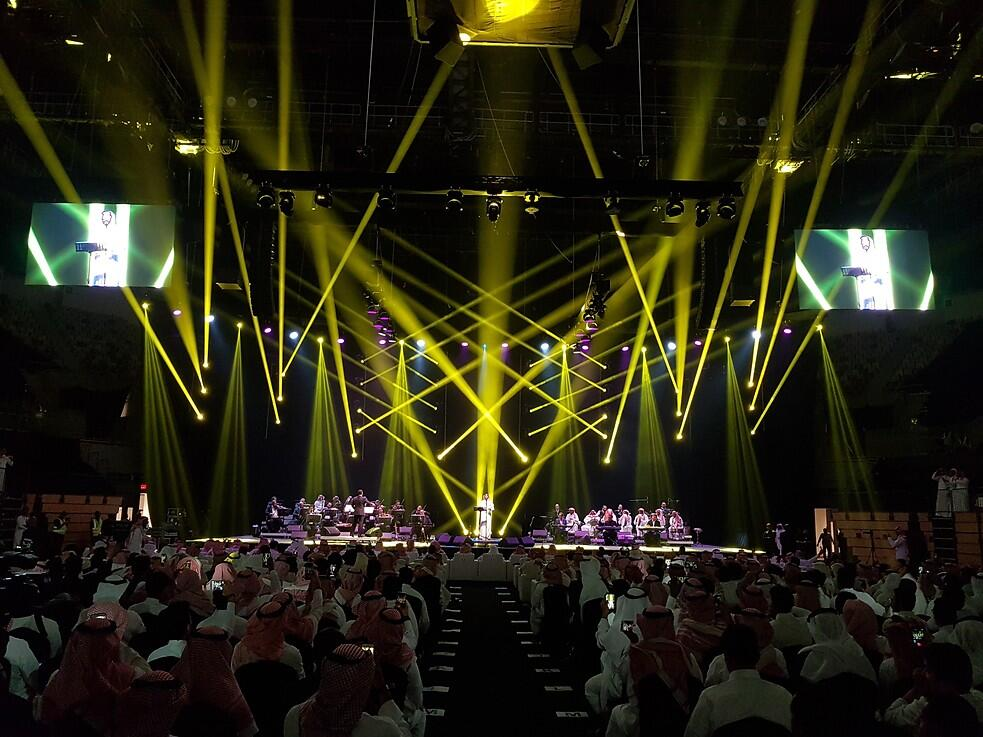 Photograph from Rabeh Saqr Concert - lighting design by kholyman