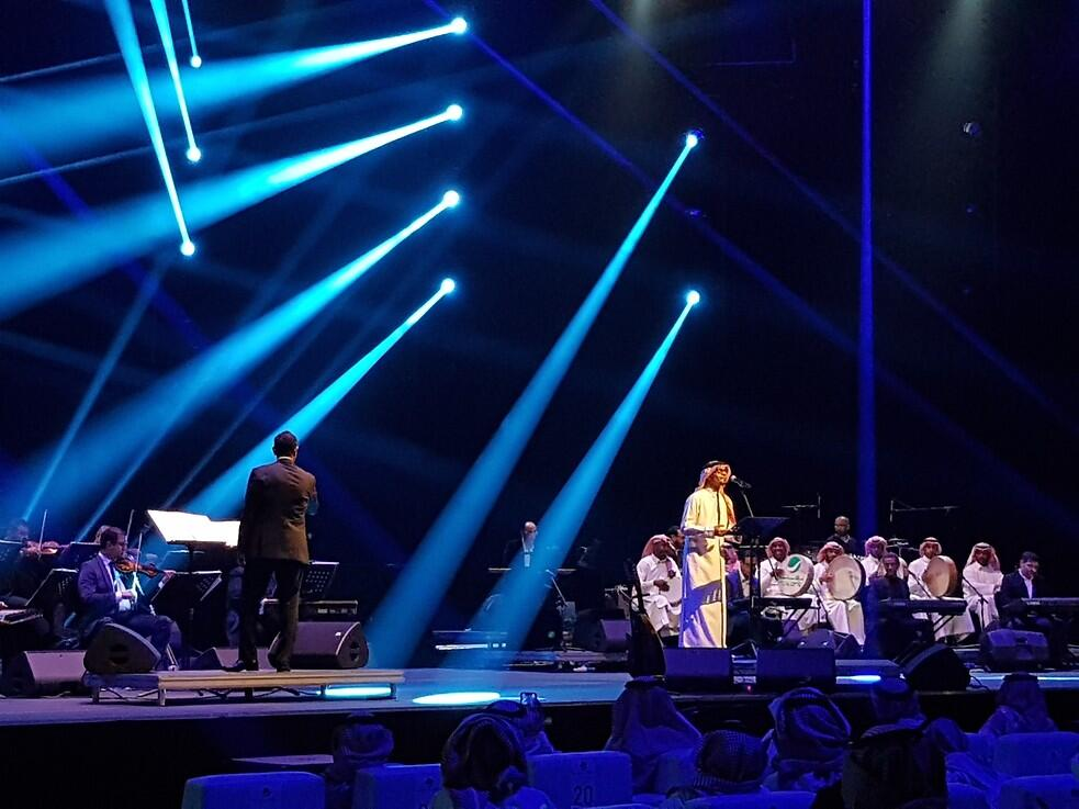 Photograph from Rabeh Saqr Concert - lighting design by kholyman