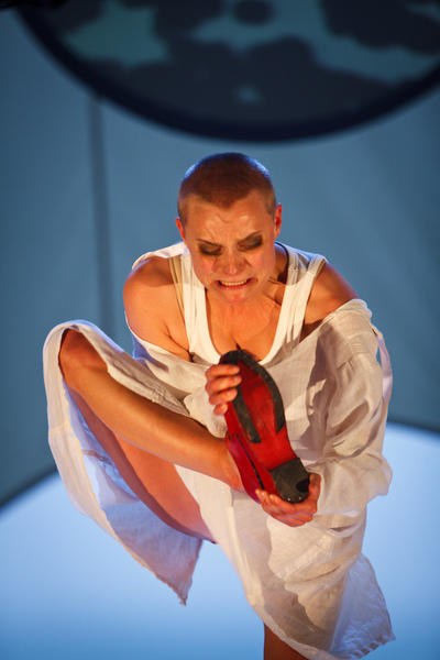 Photograph from The Red Shoes - lighting design by Malcolm Rippeth