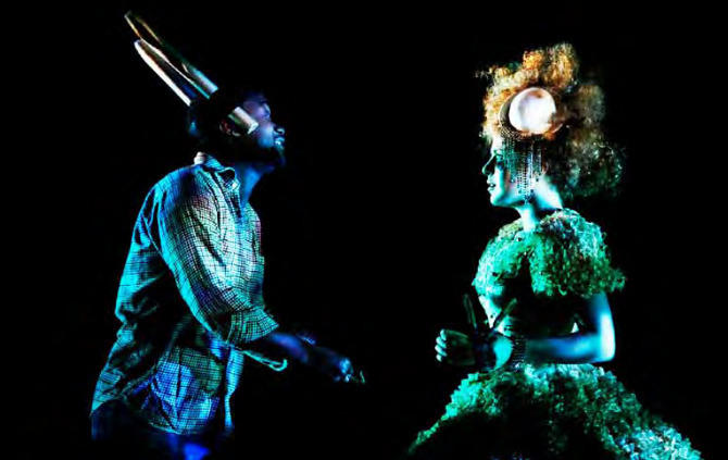Photograph from A Midsummer Night's Dream - lighting design by Katharine Williams