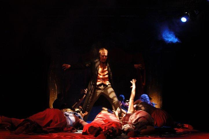 Photograph from Jekyll and Hyde - lighting design by Guy Lee
