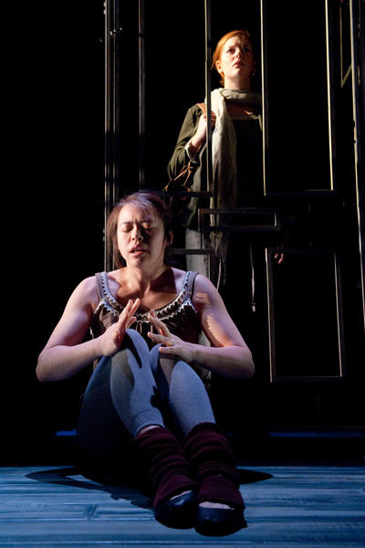 Photograph from Bright Black - lighting design by Simon Wilkinson