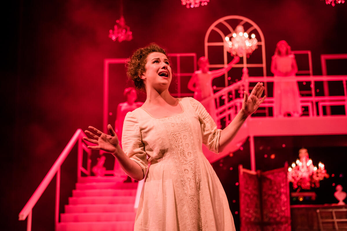 Photograph from Pride & Prejudice* (*Sort of) - lighting design by Simon Hayes
