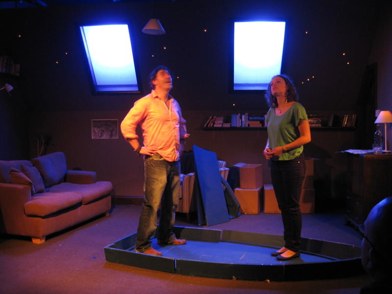Photograph from Mathematics of the Heart - lighting design by Alex Wardle