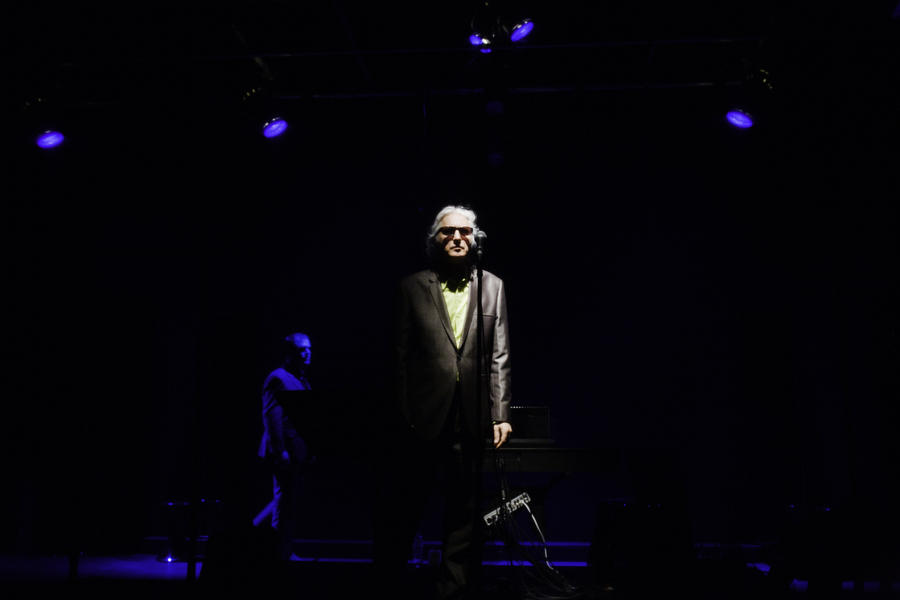 Photograph from Shiny Floor Shiny Ceiling - lighting design by Marty Langthorne