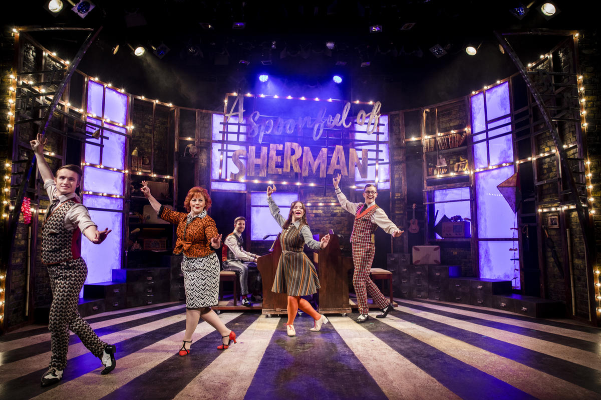 Photograph from A Spoonful of Sherman - lighting design by Christopher Withers