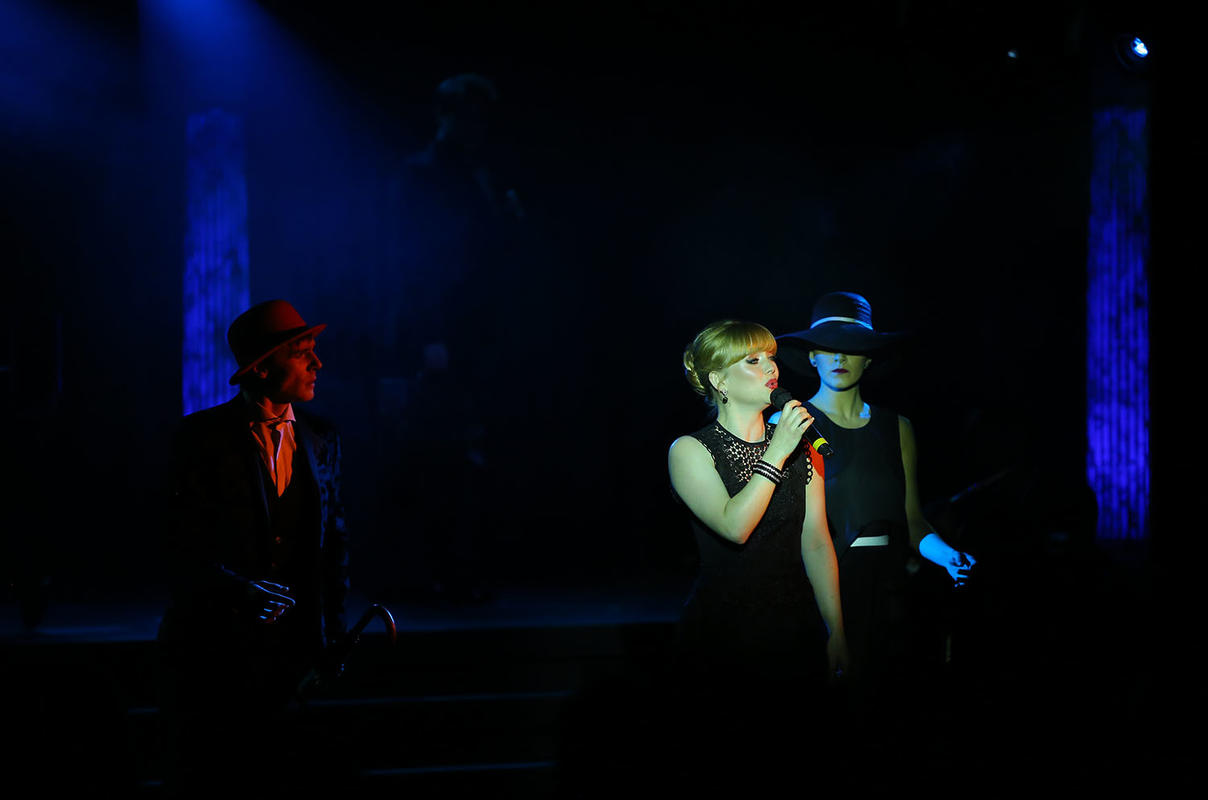 Photograph from An Evening with Tim Rice - lighting design by David Totaro