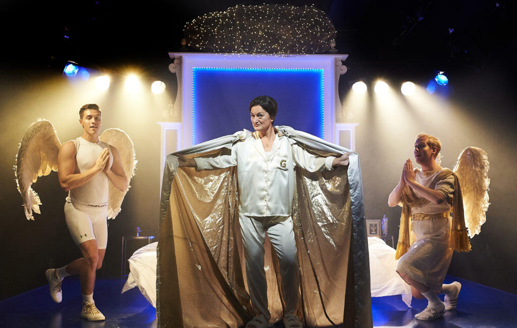 Photograph from An Act of God - lighting design by clancy