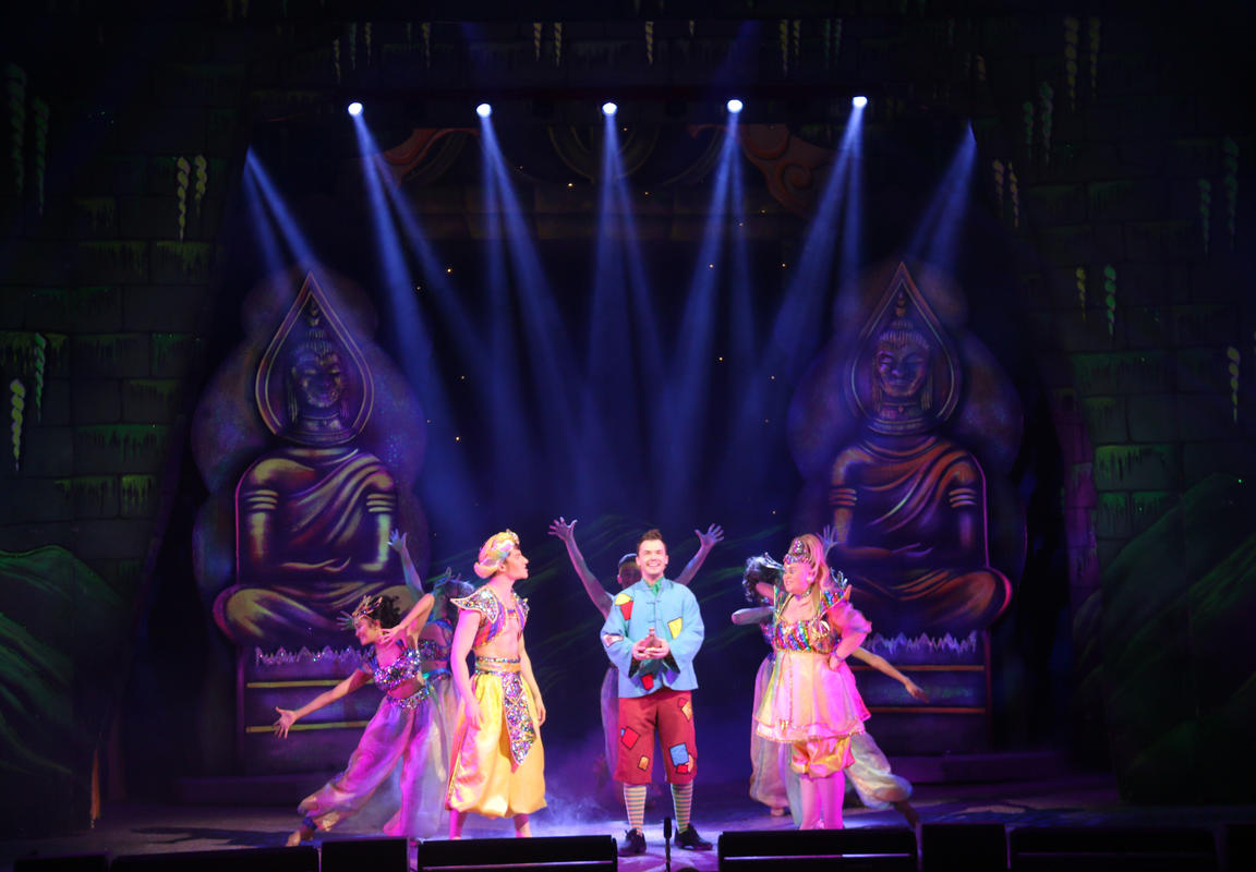 Photograph from Aladdin - lighting design by Andy Webb