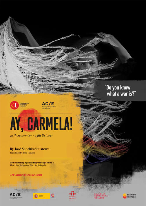 Photograph from Ay Carmela! - lighting design by Nigel Lewis