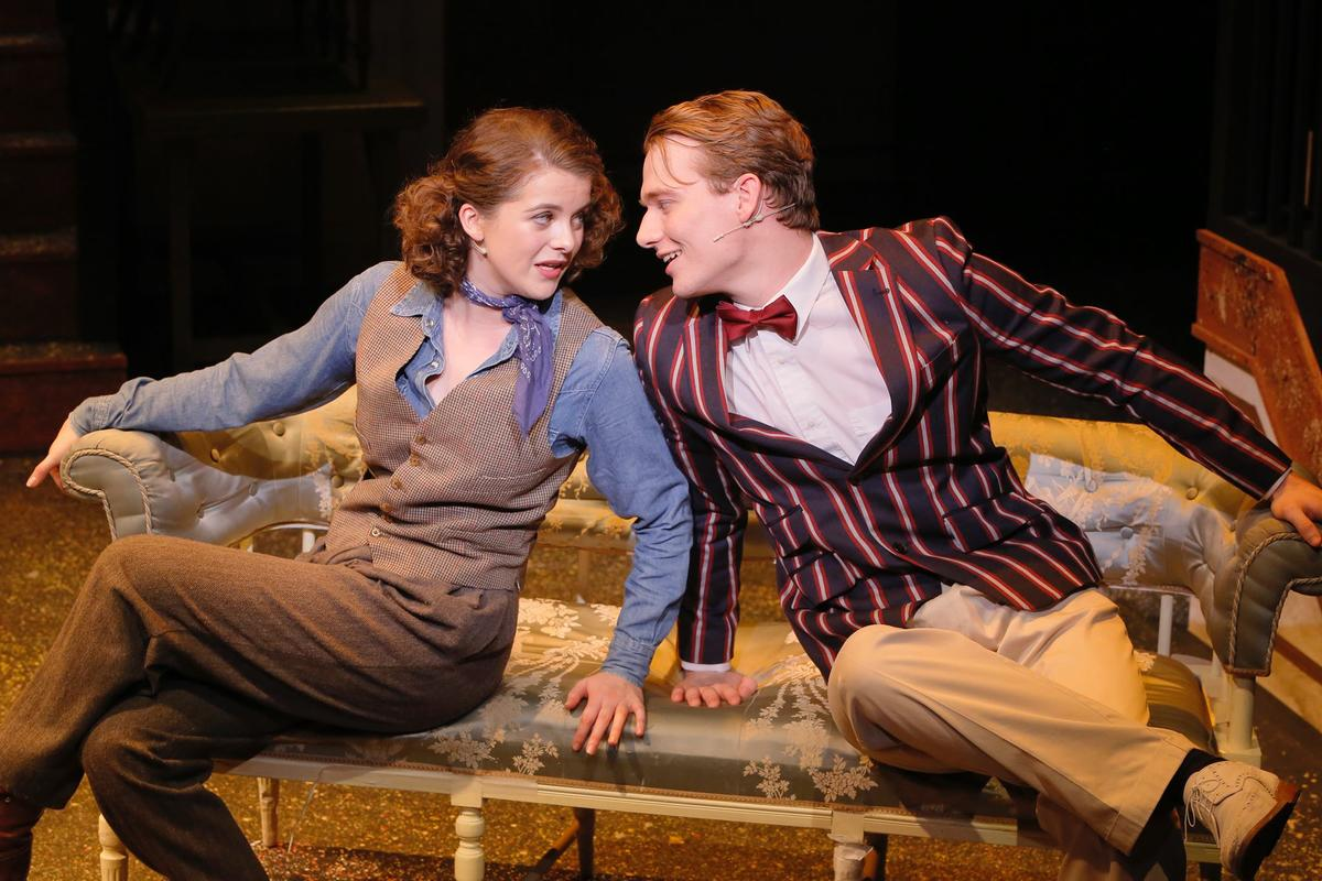 Photograph from Nice Work If You Can Get It - lighting design by Paul Lennox