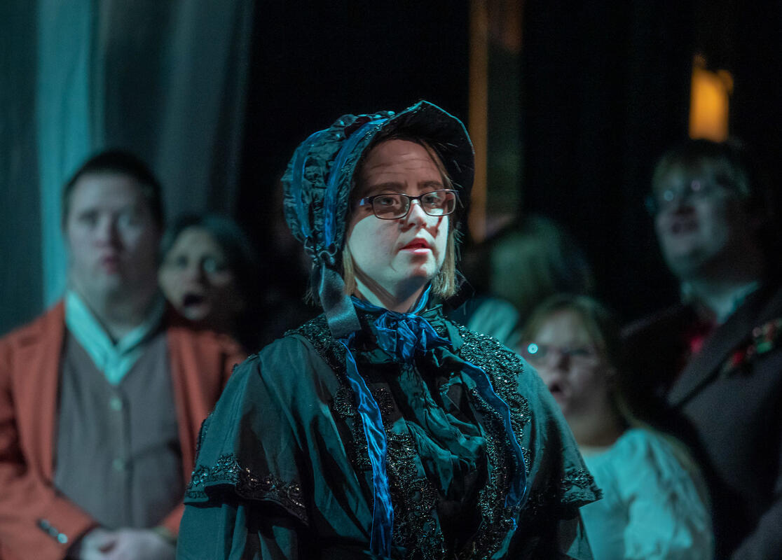 Photograph from A Christmas Carol - lighting design by Paul Milford