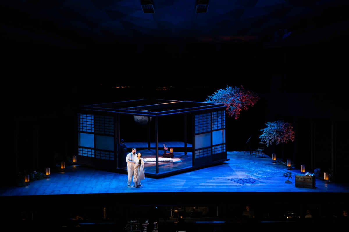 Photograph from Madame Butterfly - lighting design by Rick Fisher