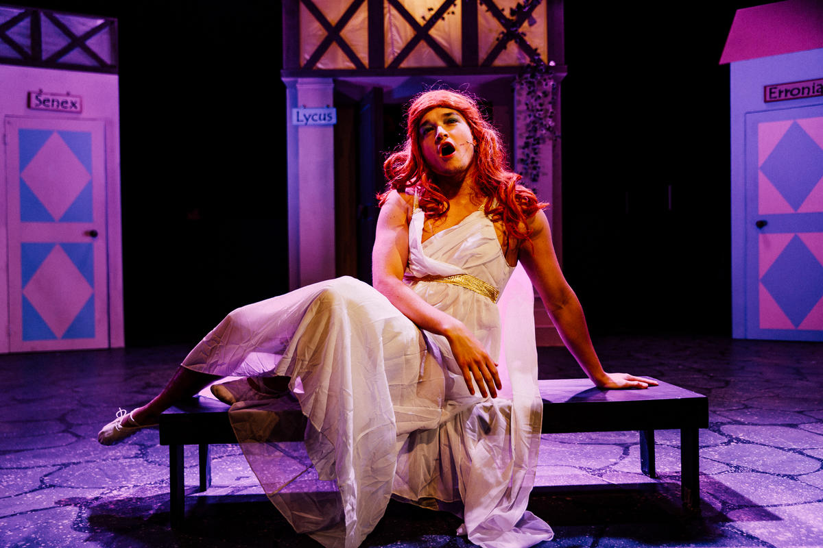 Photograph from A Funny Thing Happened On The Way To The Forum - lighting design by Sam Ohlsson