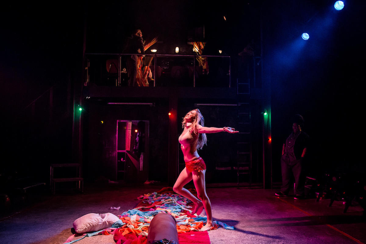 Photograph from Collective Rage - lighting design by Zoe Spurr