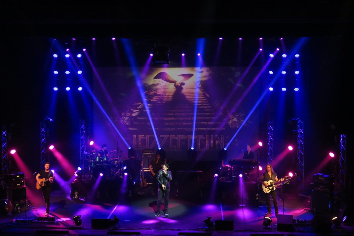 Photograph from The Classic Rock Show - lighting design by Pete Watts
