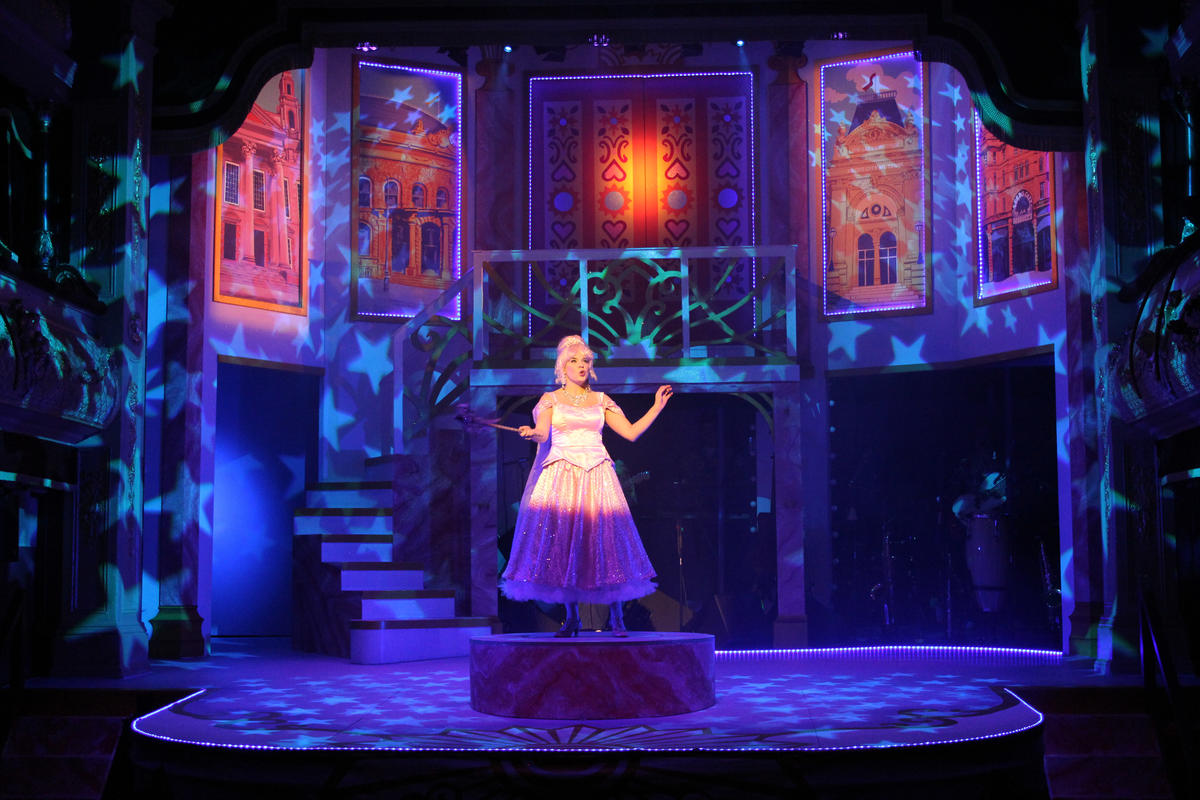 Photograph from Cinderella Rock & Roll Panto 2018 - lighting design by Jason Salvin