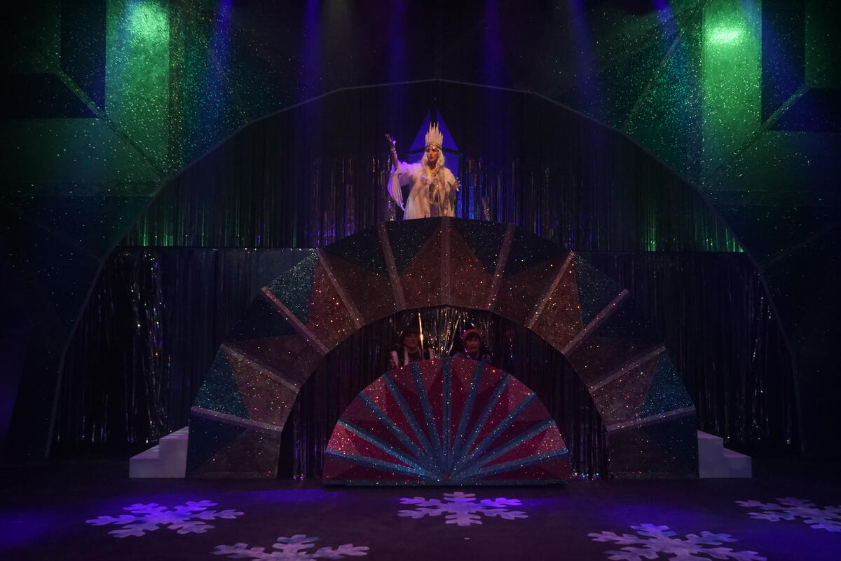Photograph from The Frozen Princess - lighting design by James McFetridge