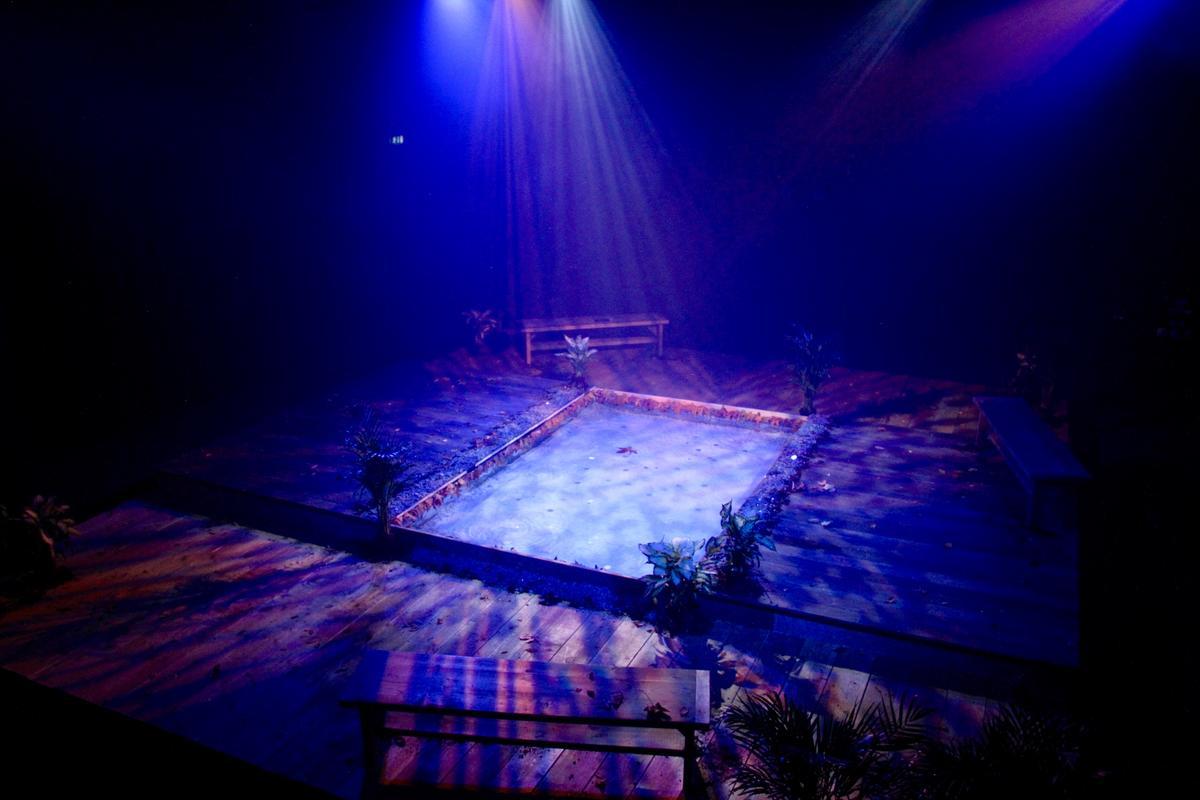 Photograph from Cogitatio - lighting design by Jack Wills