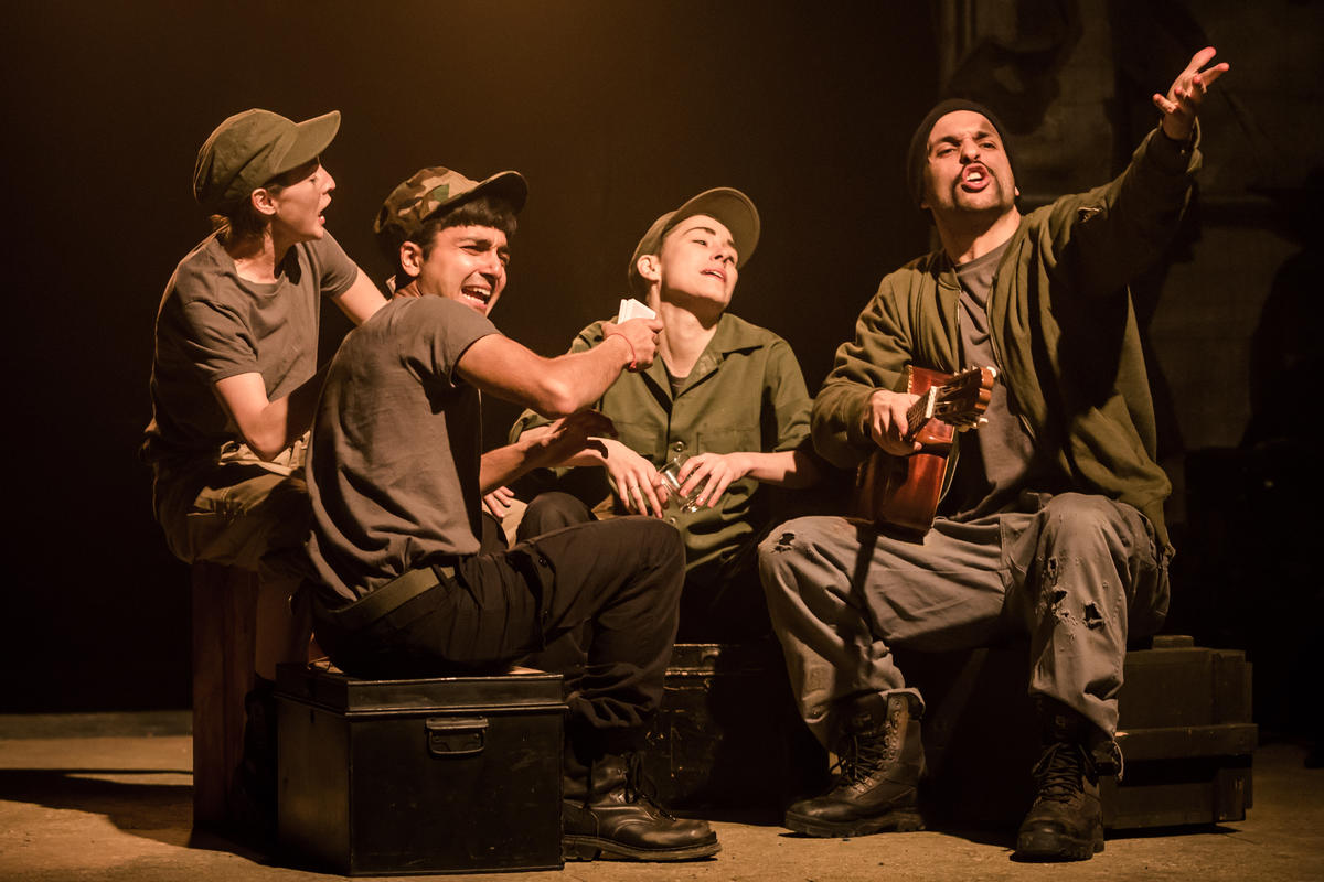 Photograph from Mother Courage And Her Children - lighting design by Robbie Butler