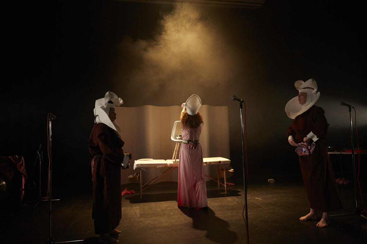 Photograph from Cyst-er Act - lighting design by Marty Langthorne