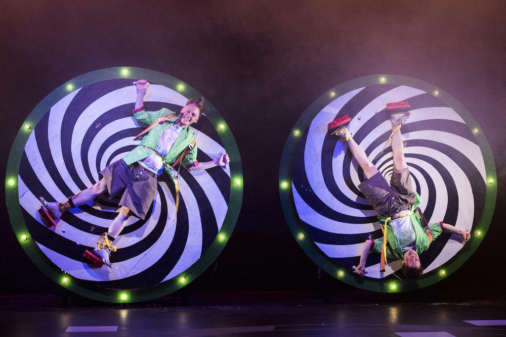 Photograph from Double Double Act - lighting design by Alex Fernandes