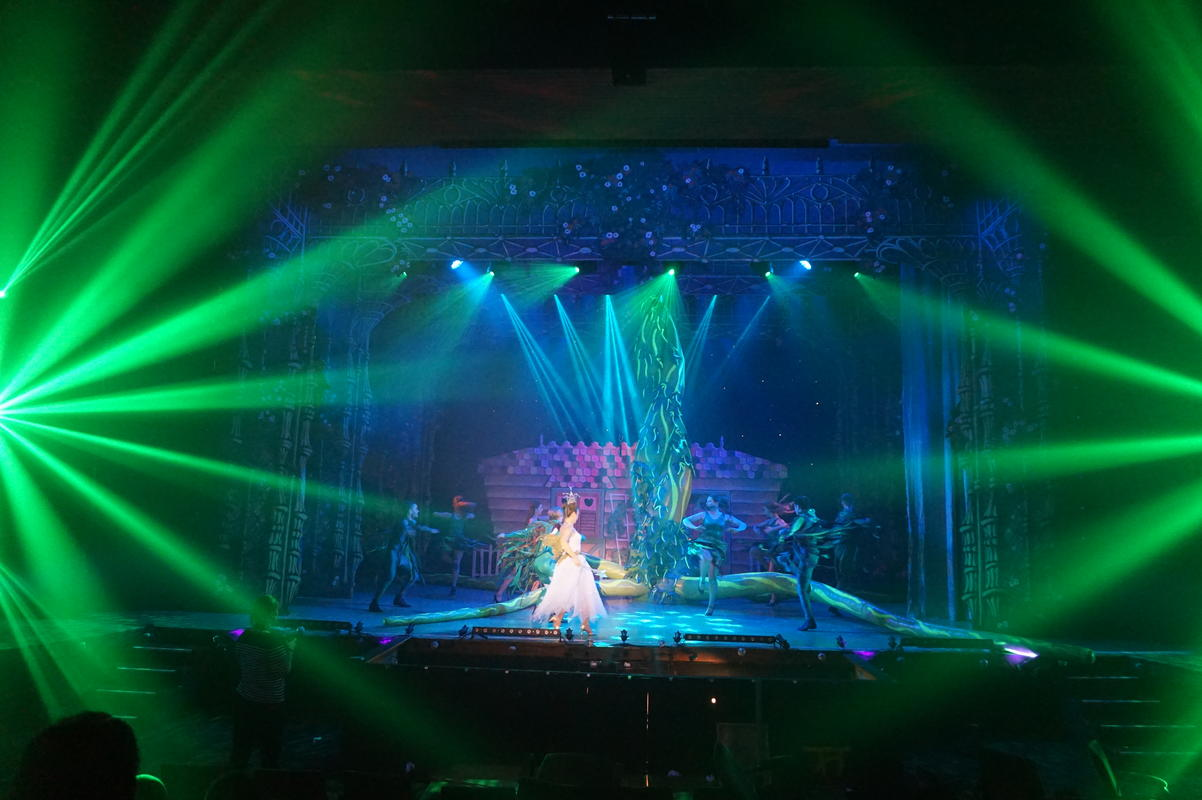 Photograph from Jack and the Beanstalk - lighting design by Pete Watts