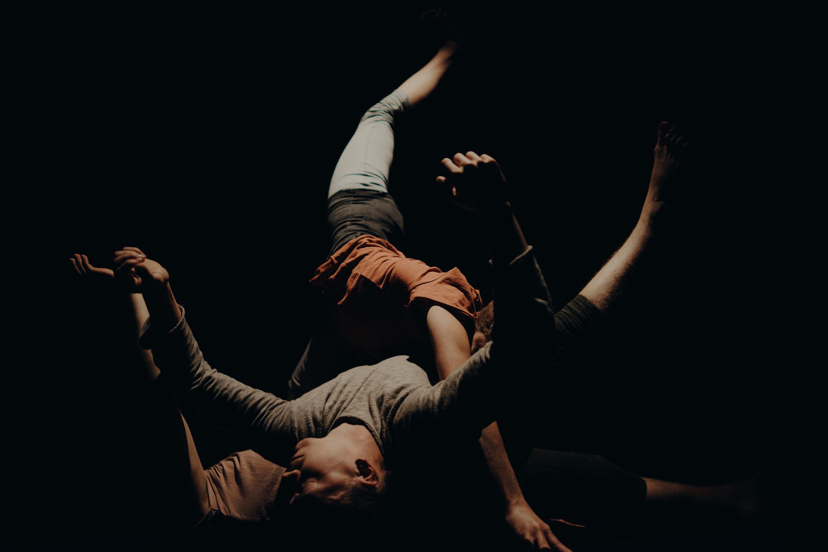 Photograph from The Art of Cuddling and Other Things - lighting design by Louise Gregory