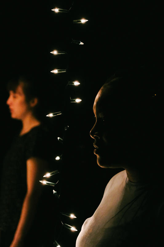 Photograph from Bottled - lighting design by Marty Langthorne