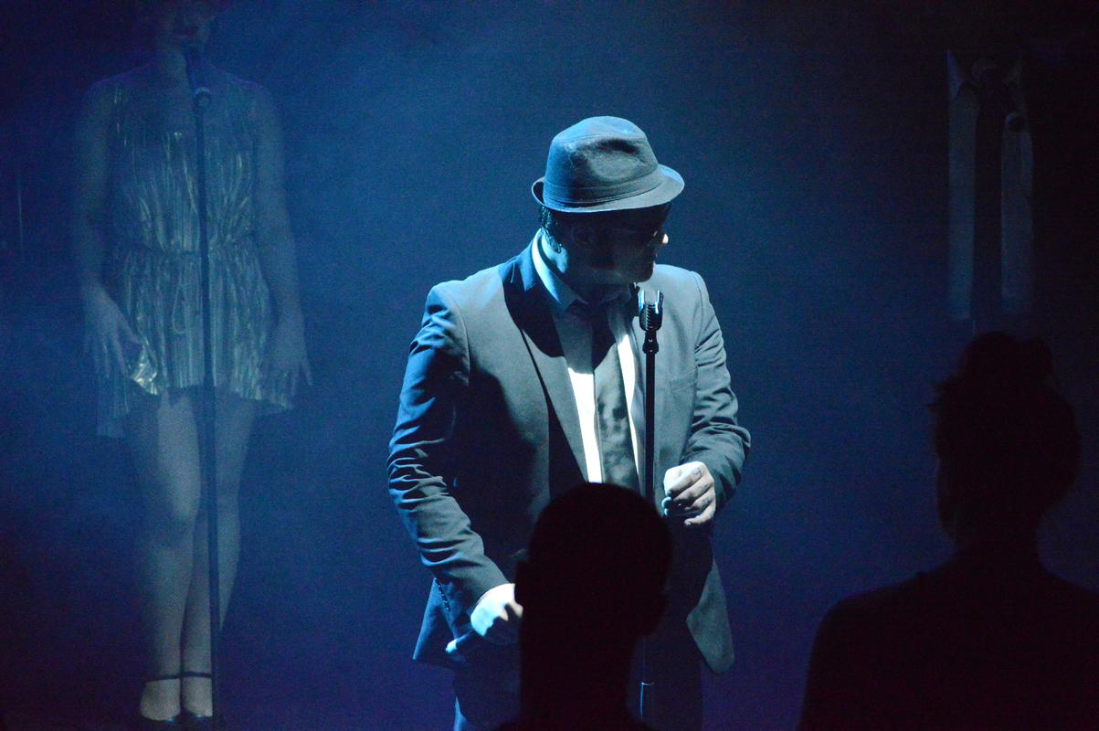 Photograph from The Blues Brothers - Live - lighting design by Richard Williamson