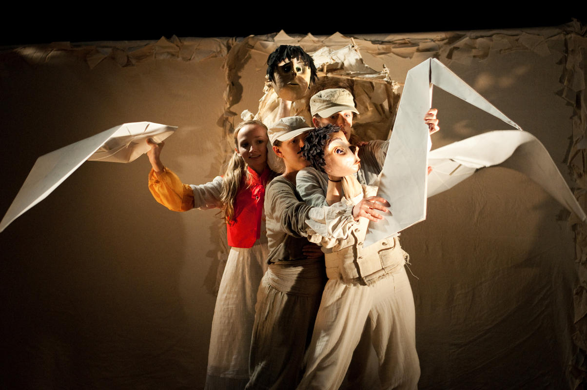 Photograph from The Girl With No Heart - lighting design by Claire Childs
