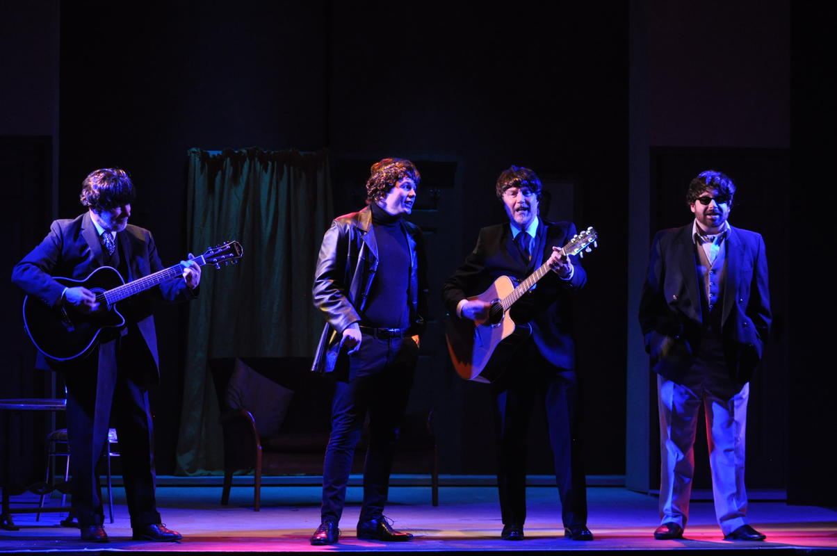 Photograph from The Iron Man - lighting design by Marty Langthorne