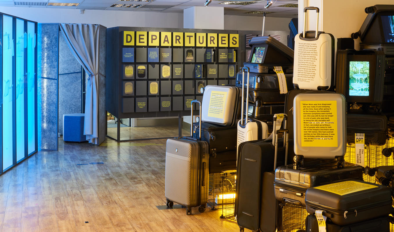 Photograph from The Departure Lounge - lighting design by Marty Langthorne
