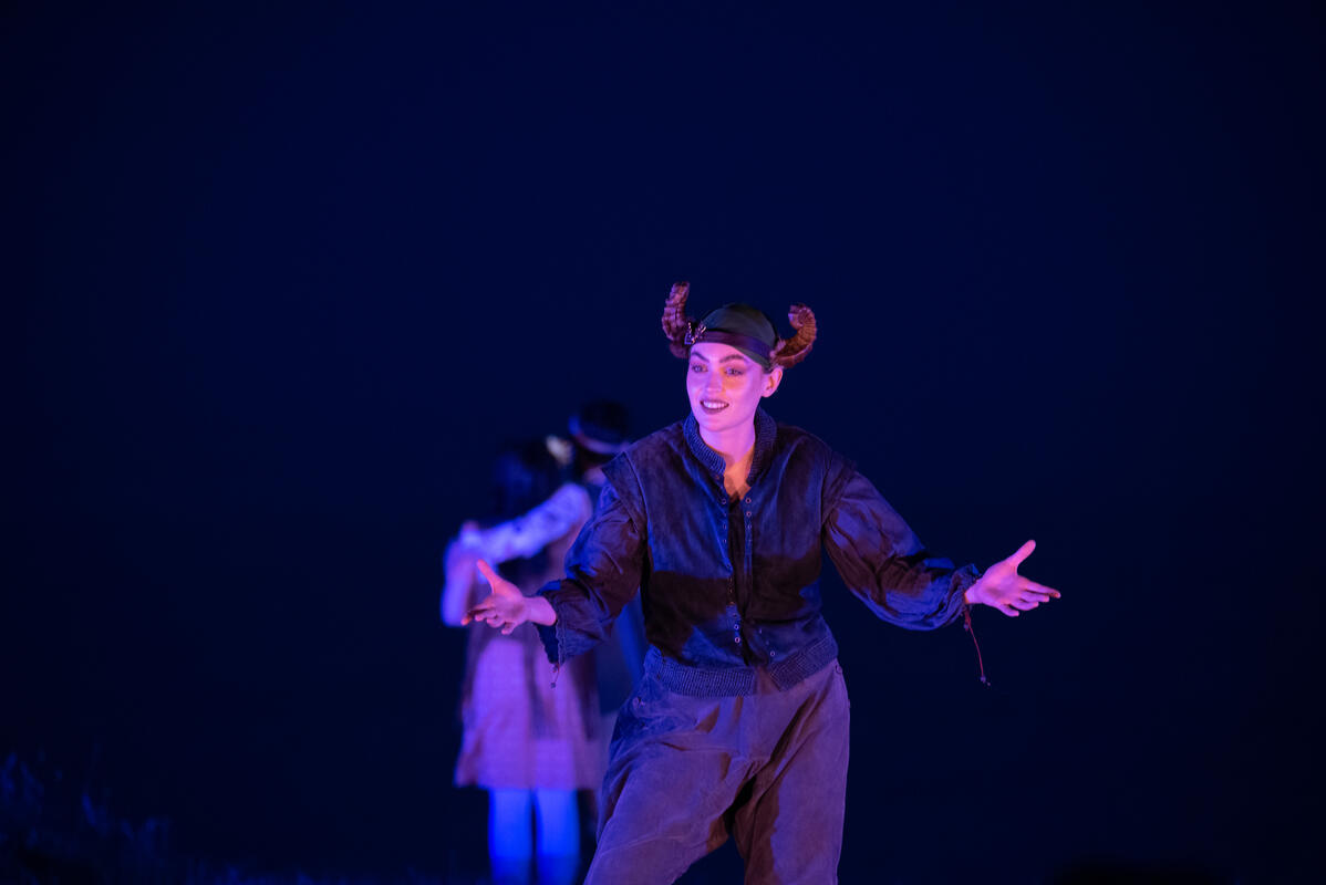 Photograph from A Midsummer Nights Dream - lighting design by Jack Wills