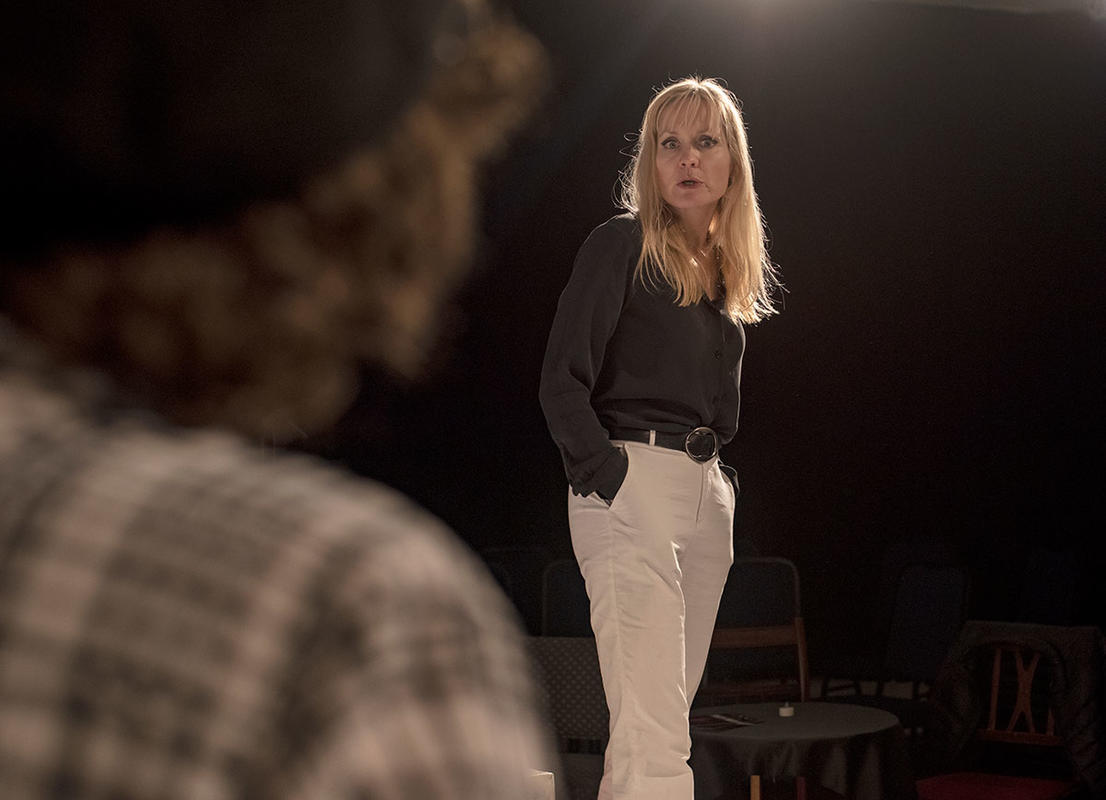 Photograph from Femme Fatale - lighting design by Sophie Bailey