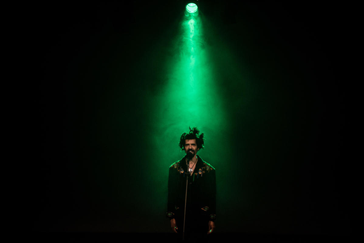 Photograph from Plastic Soul - lighting design by Marty Langthorne