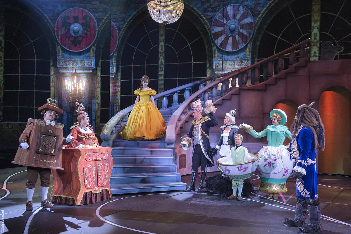 Photograph from Disney's Beauty and the Beast - lighting design by Luc Peumans
