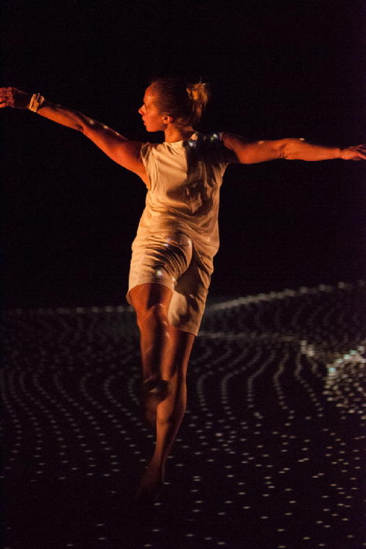 Photograph from Transmission - lighting design by Louise Gregory