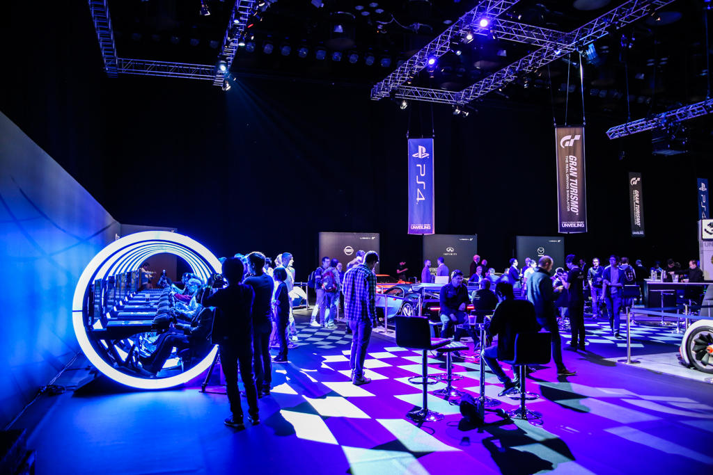 Photograph from Gran Turismo Unveiling - lighting design by Dan Terry