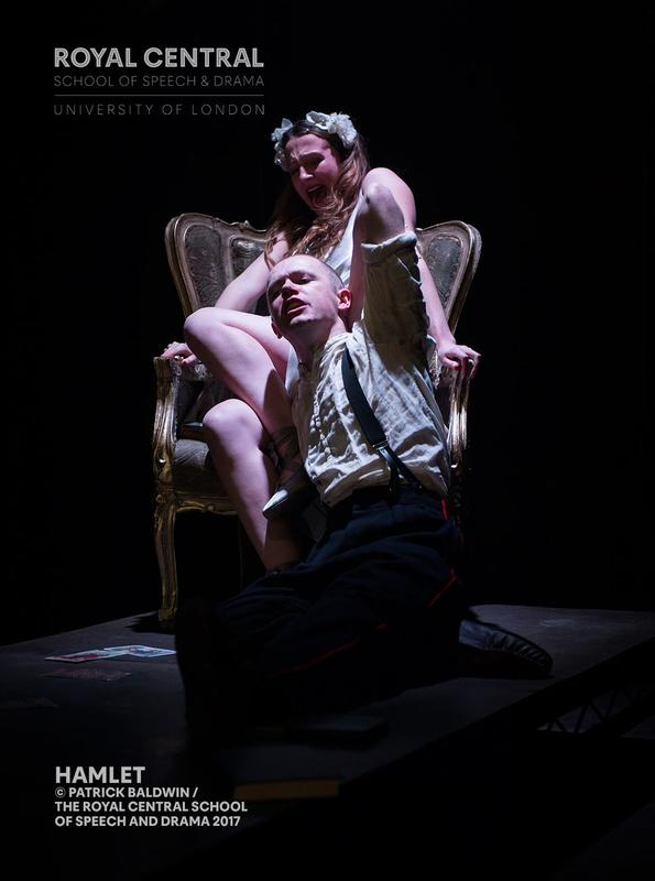 Photograph from Hamlet - lighting design by Ben Jacobs