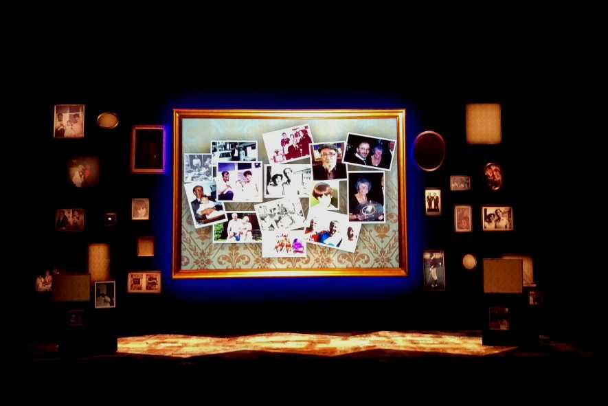 Photograph from My Family: Not the Sitcom - lighting design by Declan Randall