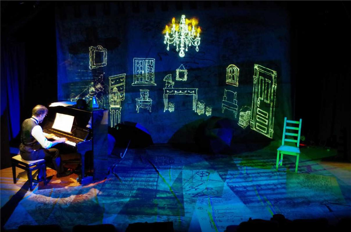 Photograph from Eric Satie's Faction - lighting design by Declan Randall